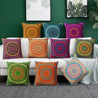 Cushion Decorative Pillow Mandala Cushion Cover Case Polyester Home Sofa Covers Decorative Pillows Bohemian Throw Geometric Pattern