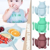 Dishes & Plates Squirrel Kids Plate Set Easily Attract Kids' Attention Increase Eat Interesting Designed For Children 1 Tableware