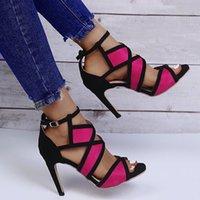 Sandals Women's Super High Heel Fish Mouth Hollow Buckle Belt Sexy Fashion 2021 Summer Comfortable Shoes