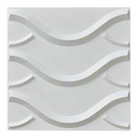 Art3d 3D Muurpanelen Geweven Ontwerp Stickers voor Slaapkamer Woonkamer TV Achtergrond Sofa Achtergrond (50x50cm, 12 tegels)