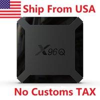 ABBRITO in USA X96Q TV Box Android 10.0 2 GB RAM 16 GB Smart Allwinner H313 Quad Core NETFLIX YouTube senza tasse doganale