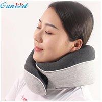 Cushion Decorative Pillow Type O Travel + Storage Bag Eye Mask Earplugs Memory Foam Head Neck Cushion Sleeping Pad Cuscini Divano