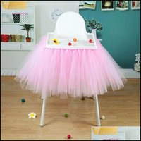 Skirt Cloths & Gardenhigh Baby Shower Tutu Tle Skirts 100X35Cm Birthday Textile For Table Skirting Chair Home Textiles Party Supplies1 Drop