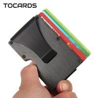 Card Holders Exquisite Aluminium Holder Men Women Metal Alloy ID Case Smart Wallet Slim Purse With Money Dollar Clip