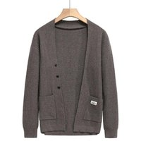 Men's Sweaters Autum 2021 High End Designer Winter Brand Fashion Knit Mens Button Cardigan Cute Casual Men Coats Jacket Clothing