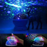 Crestech Stars Starry Sky LED Night Light Projector Лунный аккумулятор USB детские подарки Детская спальня Проекционная лампа