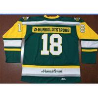 Goodjob Männer Jugendfrauen Vintage Broncos Humboldt Broncos Humboldtstrong # 18 Hockey Jersey Größe S-5XL oder Benutzerdefinierte Name oder Nummer