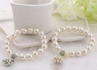 Luxus Mode Bangle Designer Perle Perlen Armband Braut Charme Schmuck Für Frauen Dame Mädchen Elastische Schöne Hochzeitsschmuck