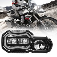 E-MARK GOEDGEKEURDE LED Motorcycle Headlamp F700 F800 GS Vervanging OSRAM Koplamp Montage met Halo Ingebouwde EMC voor BMW