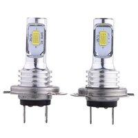 Fari dell'automobile 2pcs H7 H7 LED Bulbs Bulbs Kit di conversione BEAM 80W 4000LM 6000K Super Bright 3570 luci Fonte Commercio all'ingrosso