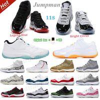 Homens Jumpman 11 Basquetebol Shoes Mulheres 11s Legend Blue Wmns Brilhante Citrino 25º Aniversário Branco Criado Gripe Reversa Game Twist Black Real Mens Sports Sneakers