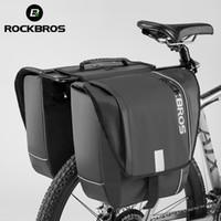 Rockbros 자전거 리어 랙 양측 낙타 가방 걱정없는 사이클링 방수 반사 스트립 숨겨진 지퍼 가방