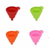 Creative Silicone Funnel Funnel Gadget Gadget Retractable Funnels Hogar Líquido Sub-Relleno Mini Funnel Cocina Herramientas AHE5117