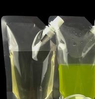 500 ml Stand-Up Bebida de plástico bolsa de envasado bolsa de copa para bebidas líquido jugo leche bolsas de café rebankes bolsas de bolsas KKA8334