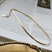Oryana 925 Ayar Gümüş Yılan Zincir Gerdanlık Kalın Düz Balıksırtı Link Kolye Kadınlar için Minimalist Güzel Takı