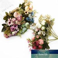 Çiçek Renkli Çay Güller Ev Dekorasyon Aksesuarları Için Vazolar Sahte Papery Plastik Düğün Dekoratif Yapay Çiçekler