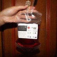 1 UNID Material de PVC de grado alimenticio transparente Reutilizable Bolso de bebida de energía sanguínea Reutilizable Halloween Bolsos Bolsos Vampire 0708018
