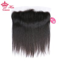 ملكة منتجات الشعر الماليزي أمامي مستقيم 100٪ شعر الإنسان 13x4 الأذن إلى الأذن الرباط أمامي إغلاق العذراء الشعر الطبيعي اللون مجانا