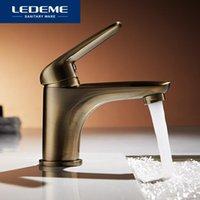 Torneiras do banheiro Torneiras Ledeme Bacia Bronze Bronze Misturador Misturador de Bronze Tradicional Água Elegante Água Moderna Cachoeira L1048C