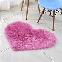 Carpets Creative Heart Shape Plush Anti-Slip Rug Home Bedside Decor Carpet Floor Bathroom Non Slip Living Room Bedroom Mat