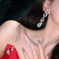 Baumel kronleuchter koreanische stil vintage luxus kristall quaste lange ohrringe für frauen minimalistische perle elegante ohrring party mode juwelr