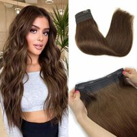 Straight With Clips Elasticity Invisible Wire Remy Hair Pieces Piano Natural Headband Halo Extensions