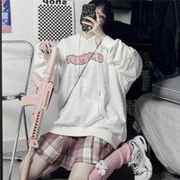 Men's Hoodies & Sweatshirts Cartoon Dark Punk Graffiti Kpop Harajuku Pattern Oversize Fleece Letter Winter Loose Pocket Hoodie Casual Women'