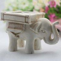 Bougie éléphant chanceux Bougeoirs Faveurs de mariage Antique Tea Lumière Chandelier Favor Favor Cadeau Accueil Décoration Nouveau 561 S2