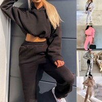 Women's Two Piece Pants Oeak Women Set Outfits Autumn Tracksuit Oversized Hoodie And Casual Sport Suit Winter 2
