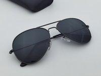 Estilo piloto homens mulheres óculos de sol moldura metálica ponte dupla design 58mm lente de vidro oculos de sol masculino gafas com caixas acessórios