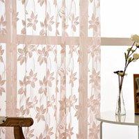 Занавес Drapes Розовые кружевные шторы для гостиной спальня, белая мода Voile Transcidus (скорость затенения 1% -40%)