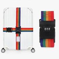 세면 용품 키트 2021 수화물 스트랩 크로스 벨트 포장 조절 가능한 여행 가방 암호 잠금 버클 수하물 벨트