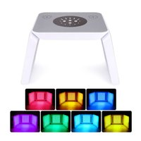 7 colors led pdt lighting color therapy facial beauty machine with foldable design face skin tightening wrinkle remover acne treatment salon use