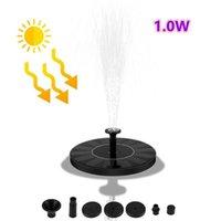 Fonte solar 1W energia solar grande diâmetro bomba de fonte flutuante painel de bomba de água