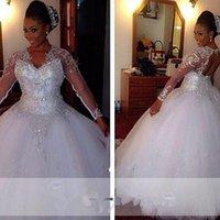 Custom Beautiful Sparkle Wedding Dresses Bling Sweetheart Bridal Ball Gown WeddingDresses Plus Size Vestidos