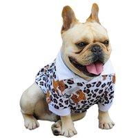 Модный леопард Print Pet Polo рубашка летняя рубашка летом на открытом воздухе спортивный щенок бульдог Тедди бишонская одежда