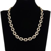Chains 12mm Rock Miami Iced Out Cuban Link Chain Necklaces For Men Bracelet Full Rhinestones Jewelry Set Silver Color Hip Hop