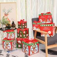 3 unids / lote DIY Navidad Regalo Caja Familia Familia Candy Chocolate Decoración de Navidad Personalidad Embalaje Embalaje Ventana de Navidad Porps HWF7352