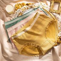 Women's Panties Cotton Briefs Mid-Waist Women Underwear Graphene