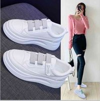 Dress Shoes Female vulcanized lace shoes, casual women's sports white spring and autumn shoes 7G9O