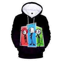 Men's Hoodies & Sweatshirts Henry Stickmin Collection Men Hoodie Sweatshirt Women Pullover Cartoon 3D Printed Loose Oversized Boys Girls Tra
