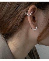 Stud 925 Sterling Silver Shiny Zircon Semicircular Triangle Piercing Earrings For Women Light Luxury Personality Jewelry