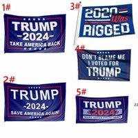 ترامب الانتخابات 2024 ترامب حفظ إبقاء العلم 90 * 150cm أمريكا شنقا لافتات كبيرة 3x5ft 2020 تم تزوير لا ألومني صوتت ل HWD823