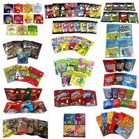 Пустые видимы, упаковочные сумки для упаковки Candy Gummy Cookie Cooke Chips Chips Mylar Bag Boy Mogs Medious Chewy Cube Medibles Infeed Gummies