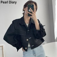 Women's Jackets Autumn Long Sleeve Coat Women Korean Fashion 2021 Loose Turn Down Collar Solid Color Single Breasted Casual Female Short Jac