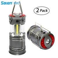 Lampes de poche Lanterne de camping à LED portables pour les lumières de survie pour urgence, ouragan, panne de courant pliable