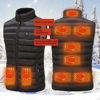 Outdoor T-Shirts Winter Men Electric Heated Jacket USB Heating Vest Thermal Clothes Feather Camping Hiking Warm Hunting