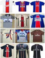 2001 2002 Paris Ronaldinho Retro Soccer Jersey 2001 2002 Anelka Okocha Heinze Pochettino Arteta Aloisio Camisa de fútbol clásico de la vendimia