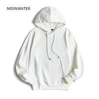 Moinwater Kadınlar Yeni Rahat Terry Hoodie Kadın Kapüşonlu Kazak Lady Beyaz Siyah Hoodies Tops LJ201130