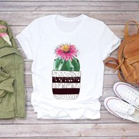 Women's T-Shirt Women Cactus Plant Cute Floral Short Sleeve Printed 90s Lady T-shirts Top T Shirt Ladies Womens Graphic Female Tee